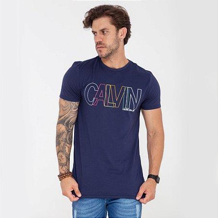 Camiseta Calvin Klein colors azul