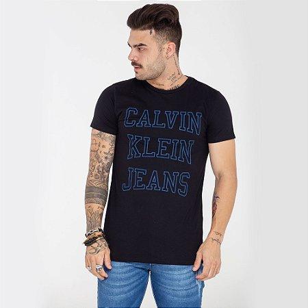 Camiseta Calvin Klein Jeans preta logo