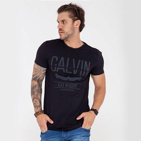 Camiseta Calvin Klein Go West preta