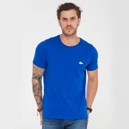 Camiseta Lacoste azul mini logo
