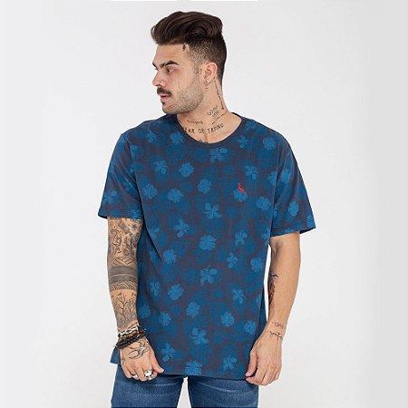 Camiseta Reserva Flores azul