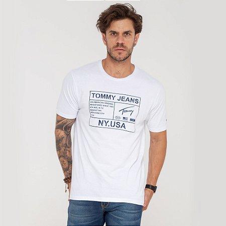Camiseta Tommy Jeans Ny Usa branca
