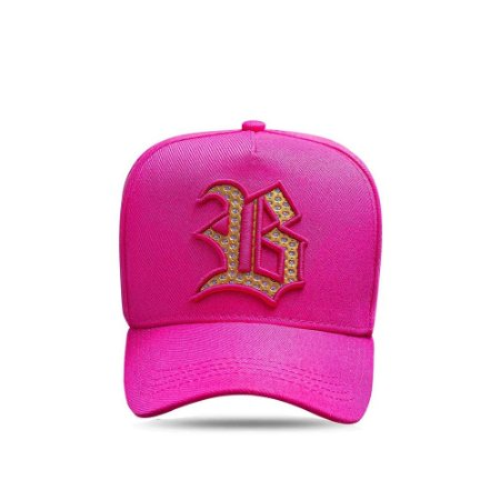 Boné Snapback All Pink Logo Diamond