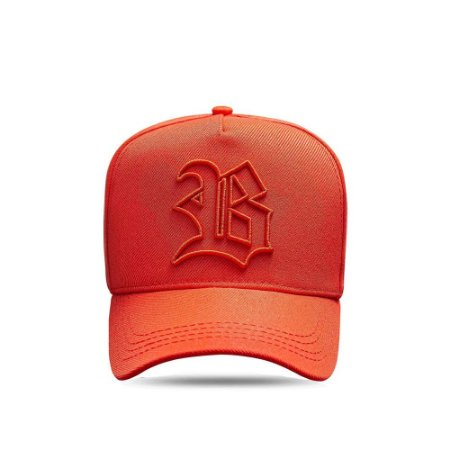 Boné Snapback Basic All Orange Logo Contour