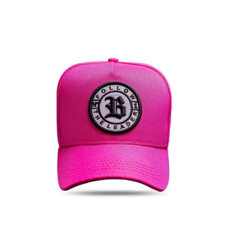 Boné Snapback Follow New Pink Logo Black