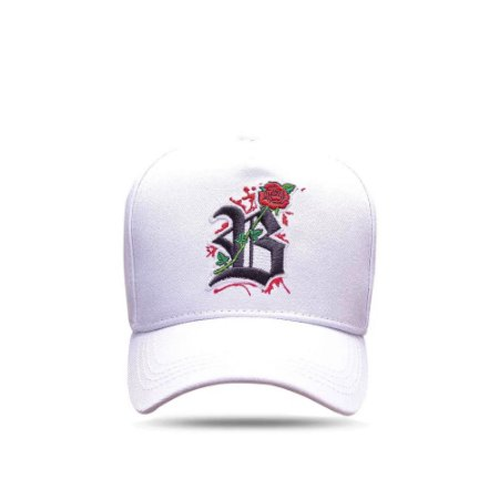 Boné Snapback All White Roses