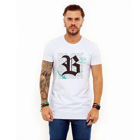 Camiseta Blck All White Countour