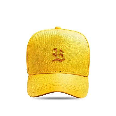 Boné Snapback Logo Basic All Yellow