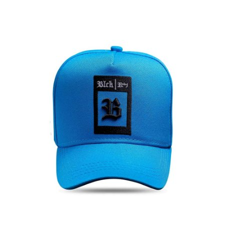 Boné Snapback All Blue Clear Logo Square Black White