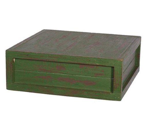 Caixa quadrada verde