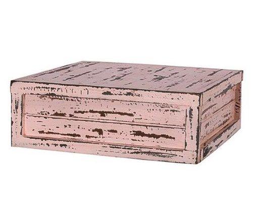 Caixa quadrada rosa