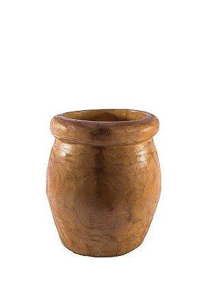 Vaso pote madeira maciça