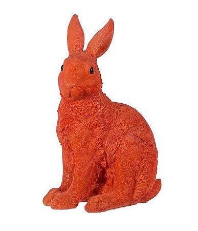 Coelho resina laranja