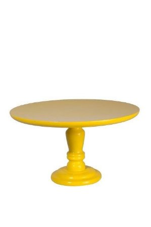 Prato doce madeira amarelo forte M