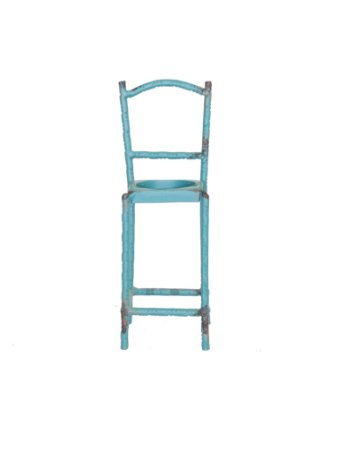 Cadeira mini ferro azul petróleo