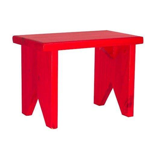 Banqueta retangular vermelha
