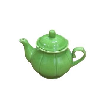 Bule ceramica com tampa verde