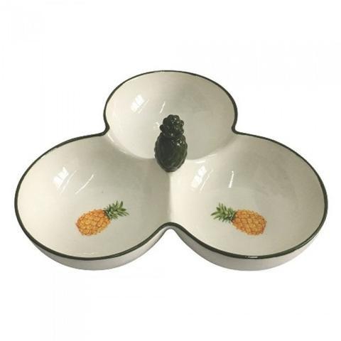 Petisqueira cerâmica abacaxi
