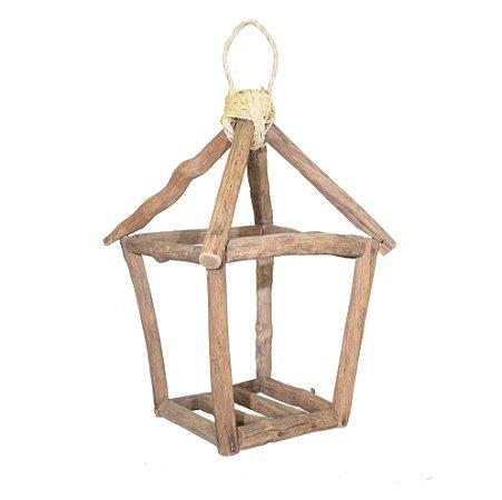 Lanterna madeira rústica