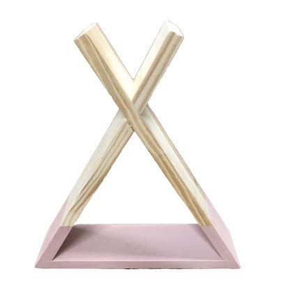 Nicho madeira com base rosa M