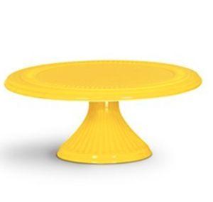 Prato doce cerâmica amarelo preto G