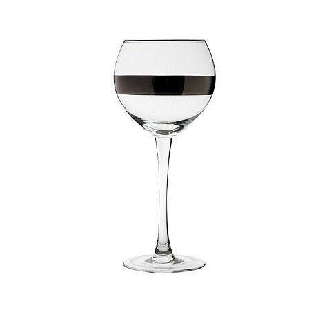 Taça silver vinho bojuda