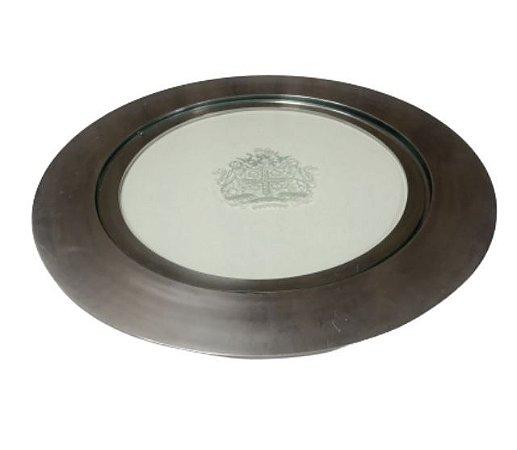 Prato doce alumínio com vidro removivel