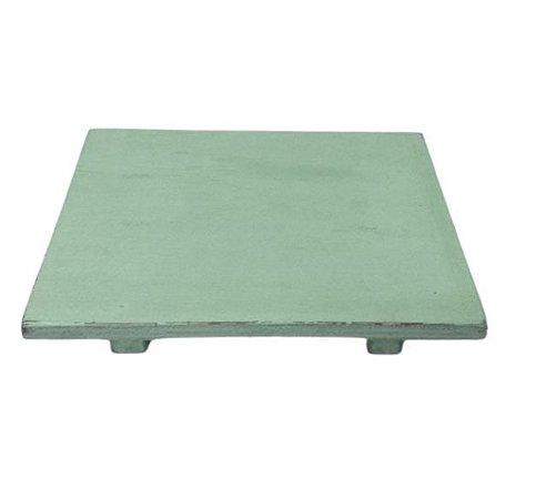 Bandeja madeira reta verde clara