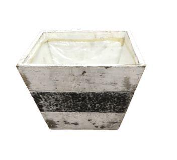 Vaso cachepot madeira rustico G