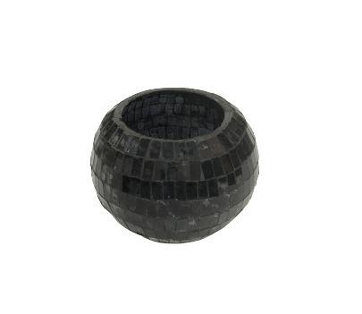 Vaso bowl mosaico preto