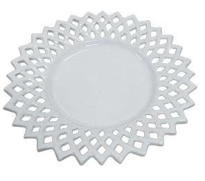 Prato doce vazado branco