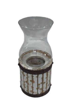 Castiçal de madeira com vidro M