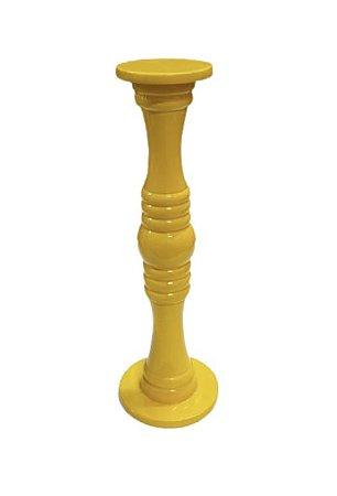 Castiçal laqueado amarelo G