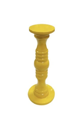 Castiçal laqueado amarelo P