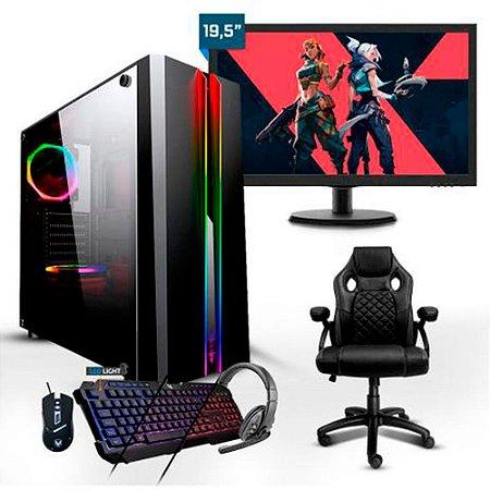 PC Gamer Completo Smart PC SMT81945 Intel i5 8GB (RX 550 2GB) 1TB + Cadeira Game