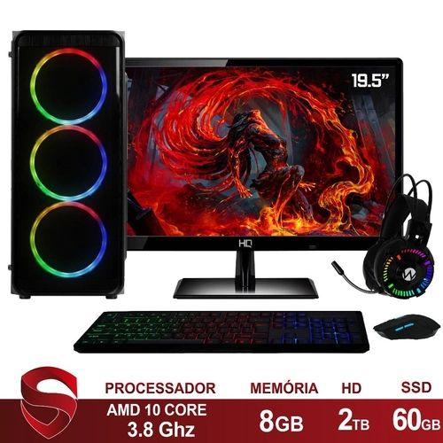 PC Gamer AMD 10-Core CPU 3.8Ghz 8GB (Placa de vídeo Radeon R5 2GB) SSD 240GB Kit Gamer Skill - Skill Gaming