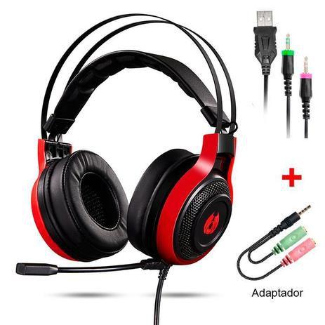Headset Gamer Fone de Ouvido com LED MH12 Preto - Digital