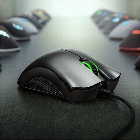 Mouse Gamer Razer Deathadder Essential sensor óptico 6400dpi 5 botões programáveis