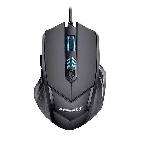 Mouse Gamer FORKA T9 Profissional 6 botões 2400dpi Ajustável Óptico silencioso Com Fio