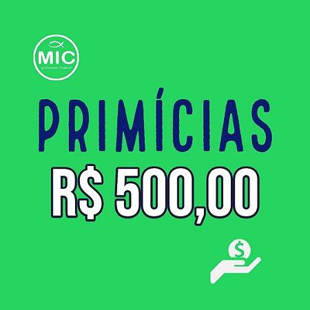 Primícias 500,00
