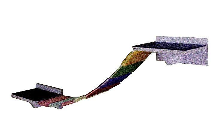 Passarela Com Ponte de corda para área externa