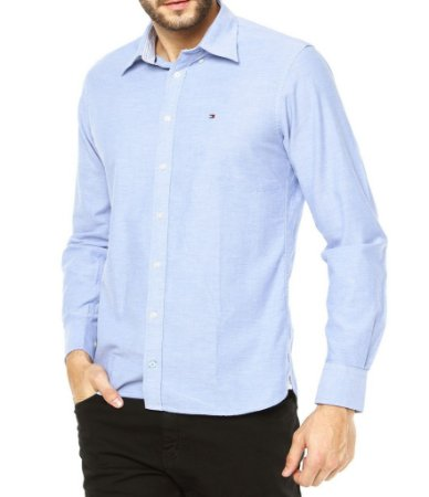 Camisa Tommy Hilfiger - Azul Claro