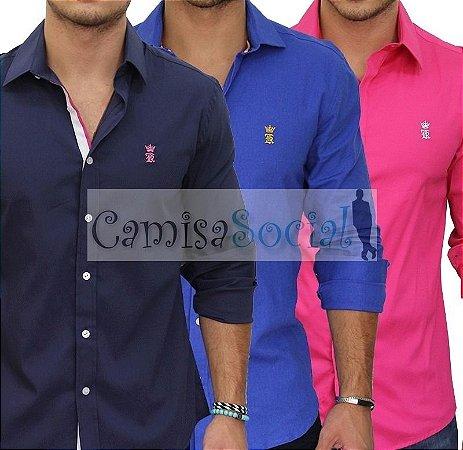 Camisa Social Sergio K - Atacado kit 05 peças