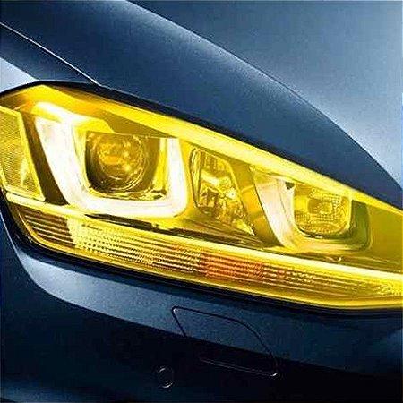 Adesivo Máscara Amarela Lanterna/Farol - Rolo 1m x 60cm