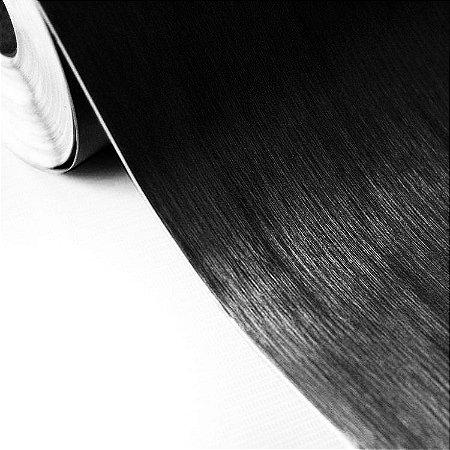 Adesivo Aço Escovado Preto (Largura 1,22m) - VENDA POR METRO