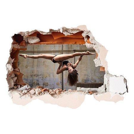 Adesivo Buraco 3D POLE DANCE