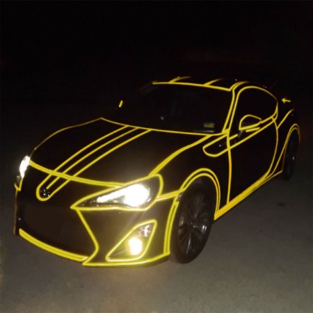 Adesivo Refletivo Amarelo (Largura 100cm) - VENDA POR METRO
