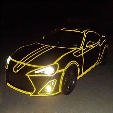 Adesivo Refletivo Amarelo - ROLO 1metro x 50cm