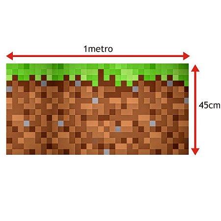 Faixa para Quarto Minecraft Tijolos (Altura 45cm) - VENDA POR METRO