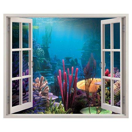 Adesivo Janela - Fundo do Mar
